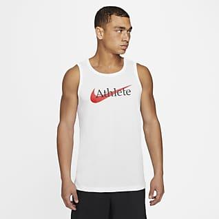 Nike Dri-FIT Camisola de treino sem mangas com Swoosh para homem