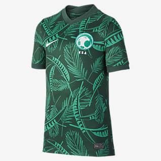 Saudi Arabia 2020 Stadium de visitante Camiseta de fútbol para niños talla grande