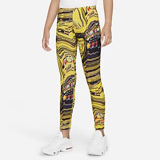 Nike Sportswear Favorites Mønstret danseleggings til store barn (jente)