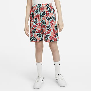 Nike Sportswear Shorts de tejido Woven estampados para niño talla grande