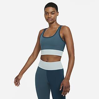 Nike Luxe Camiseta de tirantes de entrenamiento corta y de tela de canalé para mujer
