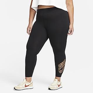 Nike Sportswear Damskie legginsy ze średnim stanem (duże rozmiary)