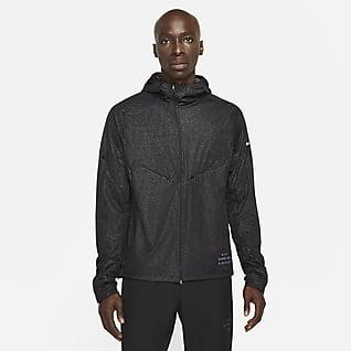 Nike Pinnacle Run Division Løpejakke med trykk til herre