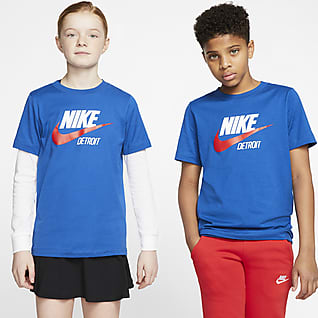 Nike Sportswear Detroit Playera para niños talla grande