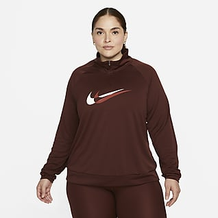 Nike Dri-FIT Swoosh Run Midlayer da running con zip a 1/4 (Plus size) - Donna