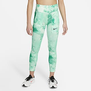 Nike One Older Kids' (Girls') Tie-Dye Printed Leggings
