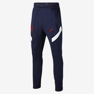 FFF Strike Pantalones de fútbol para niños talla grande