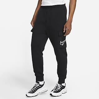 Nike Sportswear Cargobyxor i fleece för män