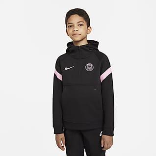 Paris Saint-Germain Piłkarska bluza z kapturem dla dużych dzieci Nike Dri-FIT