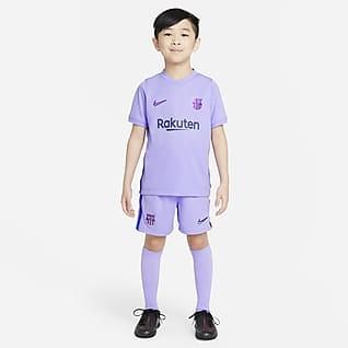 2021/22 赛季巴萨客场 幼童足球套装