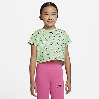 Nike Sportswear Big Kids' (Girls') Cropped T-Shirt