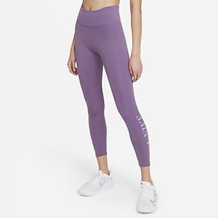 Nike Dri-FIT One เลกกิ้งเอวปานกลาง 7/8 ส่วนผู้หญิงมีกราฟิก