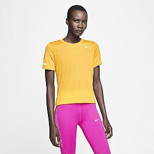 Kvinnor Gul Toppar & t shirts. Nike SE