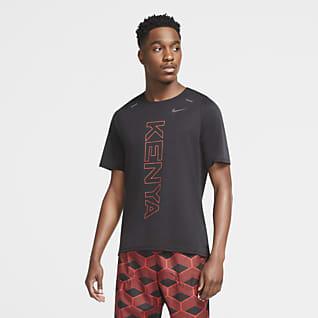 Nike Dri-FIT Team Κένυα Rise 365 Ανδρική μπλούζα για τρέξιμο