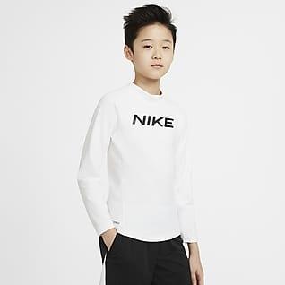 Nike Pro Warm Camiseta de entrenamiento de manga larga con gráfico para niño talla grande