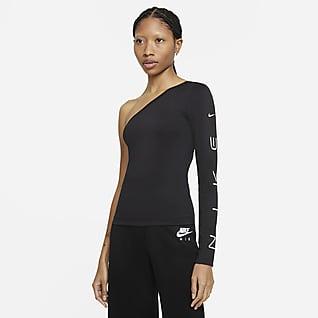 Nike Sportswear Haut asymétrique à manches longues pour Femme