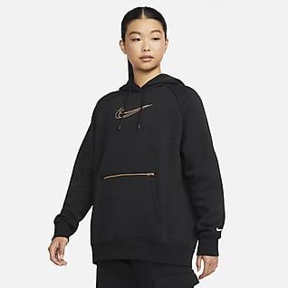 Nike Sportswear Sweat à capuche oversize en tissu Fleece pour Femme