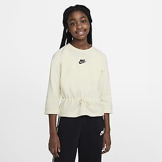Nike Sportswear Camiseta de manga 3/4 para niña talla grande