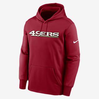 Nike Therma Wordmark (NFL San Francisco 49ers) Men's Pullover Hoodie