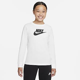 Nike Sportswear Langermet T-skjorte til store barn (jente)