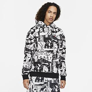 Jordan Essentials Ανδρική φλις εμπριμέ μπλούζα με κουκούλα