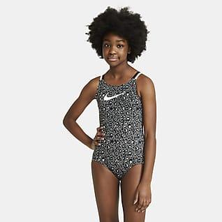 Nike Jednodílné plavky sdvojitými zkříženými ramínky pro větší děti (dívky)