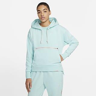 Nike Swoosh Fly Standard Issue Sudadera con capucha sin cierre de básquetbol para mujer