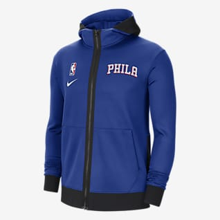 Philadelphia 76ers Showtime Felpa con cappuccio Nike Therma Flex NBA - Uomo