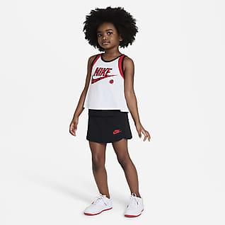 """Nike """"Little Bugs"""" Conjunto de camiseta de tirantes y falda para niña talla pequeña"""