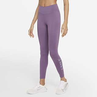 Nike Dri-FIT One Leggings con gráfico de tiro medio de 7/8 para mujer