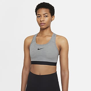 Nike Dri-FIT Swoosh Bra deportivo con almohadilla de una sola pieza de sujeción media para mujer