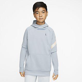 Nike Dri-FIT Academy Pro Ποδοσφαιρική μπλούζα με κουκούλα για μεγάλα παιδιά