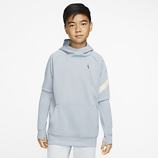 Nike Dri-FIT Academy Pro Older Kids' Pullover Football Hoodie