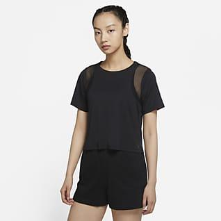Nike Yoga Dri-FIT Women's Mesh Short-Sleeve Top