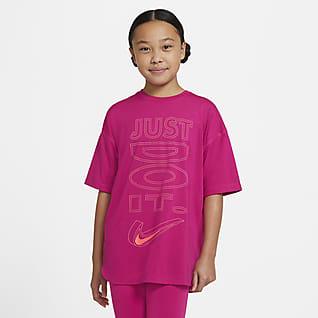 Nike Dri-FIT 大童 (女童) 短袖訓練上衣