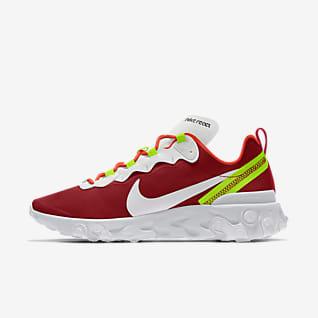 Nike React Element 55 By You Женская повседневная обувь с индивидуальным дизайном