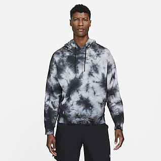 NikeCourt Sudadera con capucha de tenis desteñida de tejido Fleece para hombre
