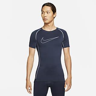 Nike Pro Dri-FIT เสื้อแขนสั้นผู้ชายทรงรัดรูป
