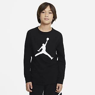 Jordan Playera de manga larga para niño talla grande