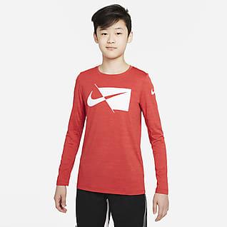 Nike Dri-FIT Big Kids' (Boys') Long-Sleeve Training Top