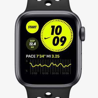 Apple Watch Nike Series 6 (GPS) con correa deportiva Nike Funda de aluminio gris espacial de 44 mm