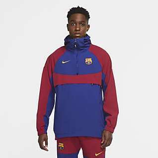 FC Barcelona Jaqueta amb caputxa de teixit Woven - Home