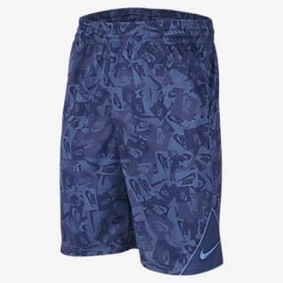 Nike Shorts de básquetbol estampados para niño talla grande