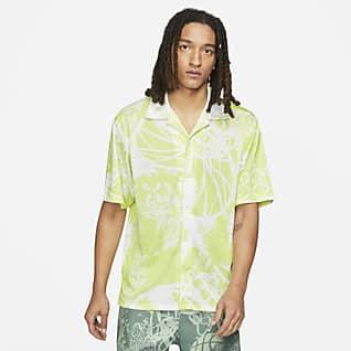 Jordan Flight Shirt met korte mouwen, knopen en print voor heren