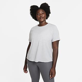 Nike Dri-FIT One Luxe Playera de manga corta y ajuste estándar para mujer (talla grande)