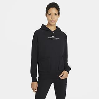 Nike Sportswear Swoosh Dámská mikina z francouzského froté s kapucí