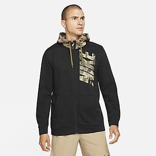 Nike Dri-FIT Camouflagetræningshættetrøje med lynlås til mænd