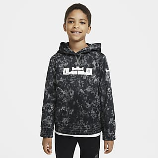 LeBron Big Kids' (Boys') Printed Pullover Basketball Hoodie
