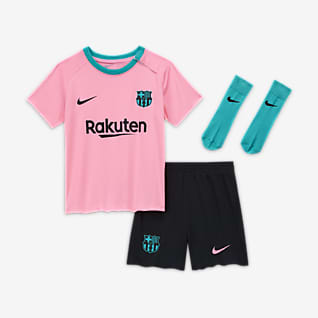 FC Barcelona 2020/21 Third Fotbollsställ för baby/små barn