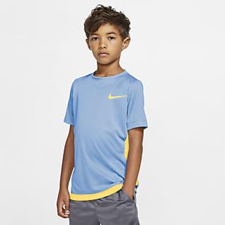 Nike Dri-FIT Prenda superior de entrenamiento manga corta para niño talla grande